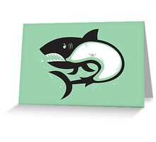 Crabby Shark Greeting Card