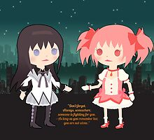 Homura and Madoka - with text- by Aiysle