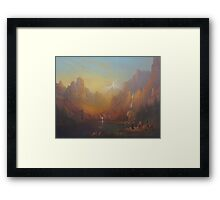 The Fellowship Of The Ring Moria Framed Print