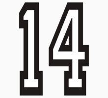 TEAM SPORTS, NUMBER 14, FOURTEEN, FOURTEENTH, Competition,  by TOM HILL - Designer