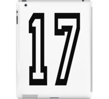 TEAM SPORTS, NUMBER 17, SEVENTEEN, SEVENTEENTH, Competition,  iPad Case/Skin