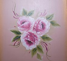 Folk Art Roses by Donna Mearns