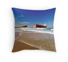 Pasha Bulker on Nobby's Beach Throw Pillow