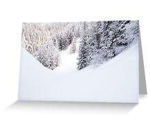Snowy Greeting Card