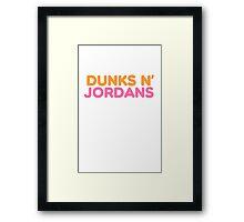 Dunks N Jordans Framed Print