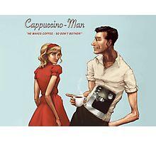 Cappuccino-Man Photographic Print