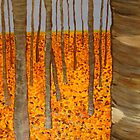 Aspens in Fall by mrbpaints