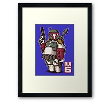 BIG BOBA 6 Framed Print