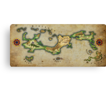 Arcaron old map Canvas Print