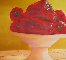 Bowl of Peppers by Marilyn Healey
