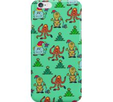 happy new year monsters pattern iPhone Case/Skin