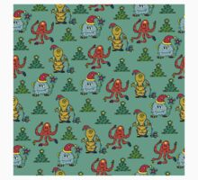 happy new year monsters pattern Kids Clothes