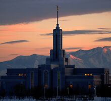 Mount Timpanogos Temple - Winter Sunset by Ryan Houston