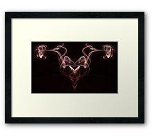 Smoke Red Framed Print