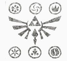 swirly zelda hyrule symbol T-Shirt