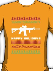 Funny AR-15 Ugly Christmas Sweater T-Shirt and Gifts T-Shirt