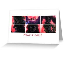 Akame ga Kill! Night Raid [Blood Moon] Greeting Card