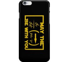 May the Equation be with you iPhone Case/Skin