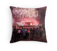Fireworks, Sydney Harbour Bridge, New Years Eve 2 Throw Pillow