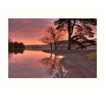 Sunrise near Hawes End Art Print