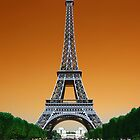 Eiffel Tower In Mars by Tony Elieh