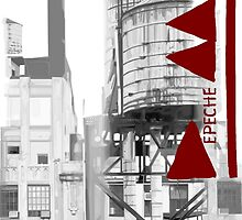 Depeche Mode : Delta Machine Paint cover - B&W Mode Right- water tower 2 by Luc Lambert