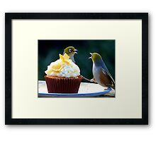 WHAT!! I'm Only Holding The Cupcake Up! - Silver-Eyes  Framed Print