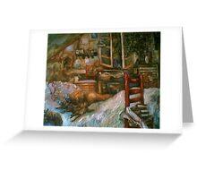 The Studio & Spirits Dream, First Detail Greeting Card