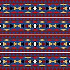 Aztec Blue Pattern by Christina Rollo