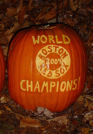 Red Sox 2004 Pumpkin by Abi Skeates