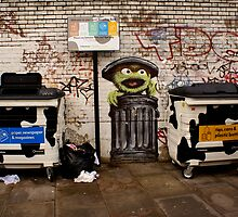Oscar the Grouch Recycles by Kiwikiwi