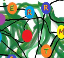 'Tis the Season to Untangle - Christmas card Sticker