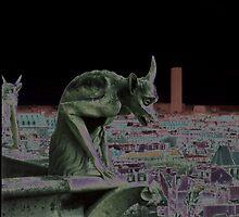 what the gargoyle sees by Roslyn Lunetta