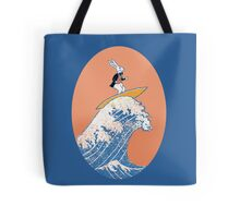 White Rabbit Surfing Tote Bag