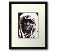 The Proud Chief Framed Print