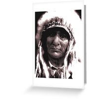The Proud Chief Greeting Card