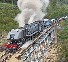 Crossing The Pieman River by Michael Bessell