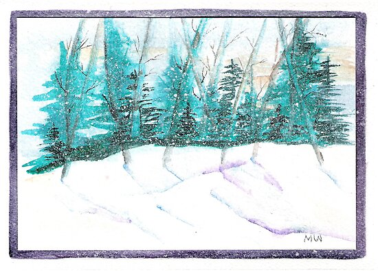 Winter Scene by Marsha Woods
