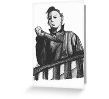 Michael myers Greeting Card