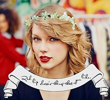 Taylor Swift Flower Crown Red Lip Classic by changingswift