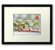 We Three Kings Of Orient Are - Silver-Eyes Christmas Card - NZ Framed Print