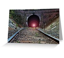 """Light at The End of The Tunnel"" Greeting Card"