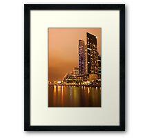 Eureka Tower at night Framed Print