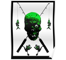Fisherman's Skull and Rods Poster