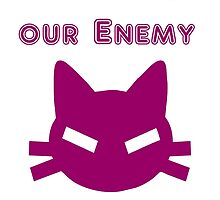 Iskybibblle Products Cats are our Enemy Pink by Iskybibblle