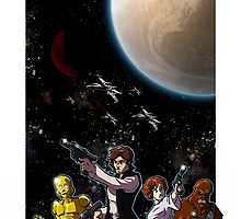 Guardians of a Galaxy Far Far Away by Mike Dio