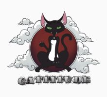 Cat with Attitude: Black & Red Kids Clothes