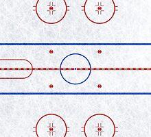 Ice Hockey Rink by waywardtees