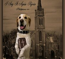 ALWAYS BE FULL OF JOY CANINE STANDING WITH BIBLE SCRIPTURE CARD AND OR PICTURE ECT by ✿✿ Bonita ✿✿ ђєℓℓσ