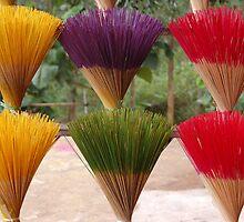 Vietnamese incense rainbow by rendoyle